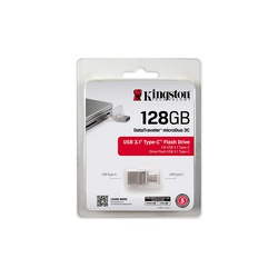Kingston Digital 128GB Data Traveler MicroDuo USB 2.0 micro USB OTG DTDUO128GB