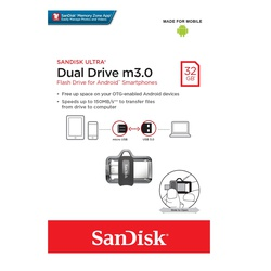 SanDisk Ultra 32GB Dual Drive m3.0 for Android Devices and Computers