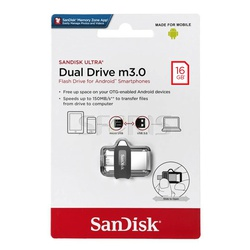SanDisk Ultra 16GB Dual Drive m3.0 for Android Devices and Computers