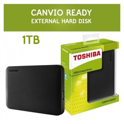 Toshiba Canvio Basics 1TB Portable Hard Drive - Black