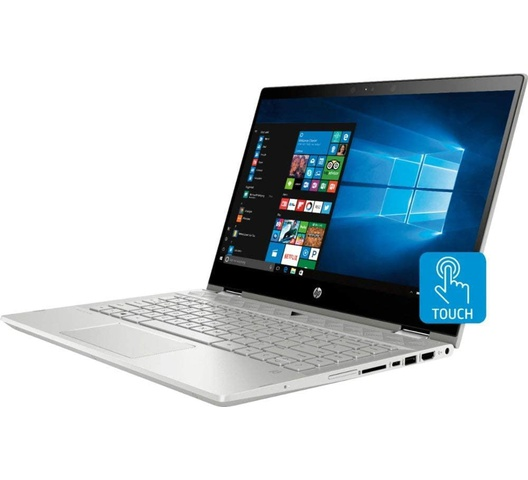 "HP Pavilion 14"" X360  HD Notebook , Intel Core i5-8265  Processor up to 3.9 GHz, 8GB DDR4, 128GB SSD + 1TB Hard Drive, No DVD, Webcam, Backlit Keyboard, Bluetooth, Win 10"