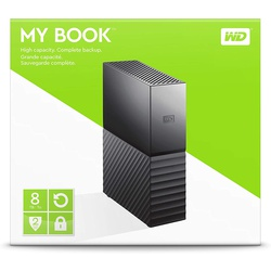 WD 8TB My Book Desktop External Hard Drive, USB 3.0 - WDBBGB0080HBK