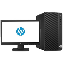 HP 290 G2 Micro Tower PC- Intel Pentium-4GB RAM-500GB HDD-8500, 3.4GHz, 18.5 Inch,  Eng Keyboard, DOS, Black