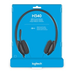 Logitech USB Headset H340, Stereo, USB Headset for Windows and Mac,Skype, and online Learning