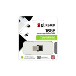 Kingston Digital 16GB Data Traveler MicroDuo USB 2.0 micro USB OTG DTDUO16GB