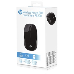 HP 200 Wireless Optical Mouse (X6W31AA#ABL) Black - New