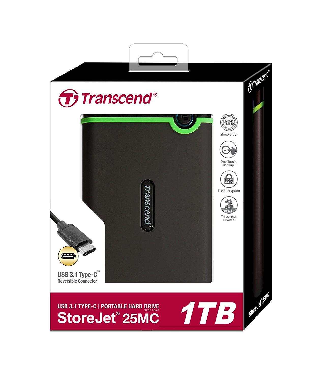 Transcend StoreJet 25M3 1TB USB 3.0 Portable Hard Drive